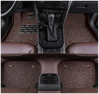 Auto Floor Mats For Mercedes Benz C292 GLE63 Coupe GLE Coupe 2015 2017 Foot Carpets Mat Water Proof leather Wire coil 2 Layer
