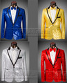 New style super stars Mens Paillette suits  Male formal dress Stage costume set the host performance Suits