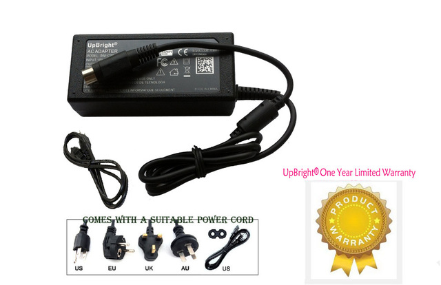 UpBright New 4 Pin DIN AC DC Adapter For Wacom Cintiq 21UX LCD Drawing
