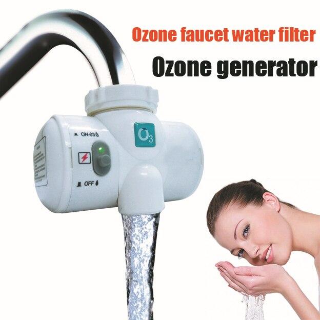 Auto Lauch Robinet D'eau Ozonateur pour l'eau zuivering Purification De L'eau Filtre Ozon L'eau Du Robinet Robinet D'ozone Purificateur Générateur