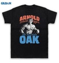 Здесь можно купить   GILDAN 100% cotton O-neck printed T-shirt Arnold Schwarzenegger T Shirt The Austrian Oak Bodybuilder for men Men