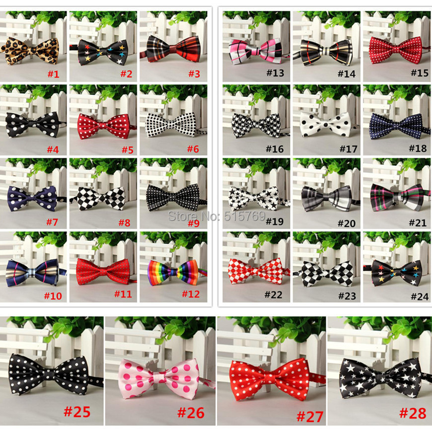 20pcs/lot Korean Slim Print Leopard Bow Tie Baby Polyester Bow Tie Toddler Bowties Size  ...