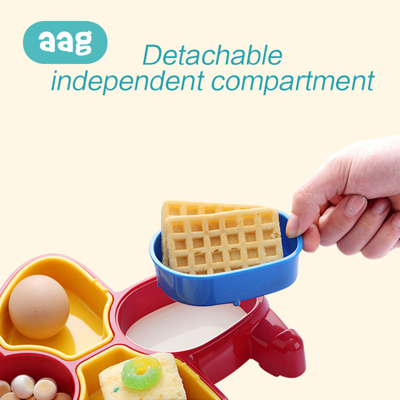 AAG BPA Free Baby Food Storage Plate Foods Cartoon Foods Supplement Bowl Partition Children Food Box Kids Training Tableware 20 in Baby Food Storage from Mother Kids