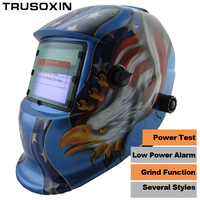 White Skull Solar Auto Darkening TIG MIG MMA Electric Welding Mask Helmet Welder Cap Lens For