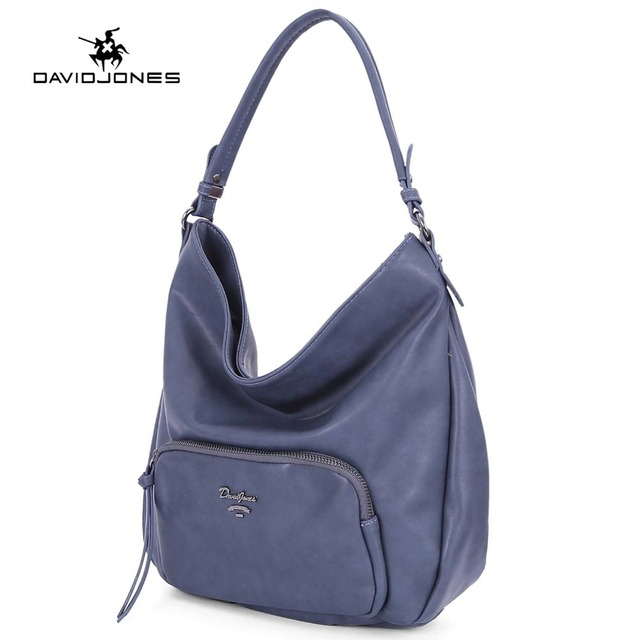 edda5e6ed9c4 DAVIDJONES women handbag faux leather female shoulder bags large lady solid  crossbody bag girl brand tote