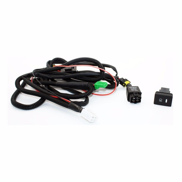 Set Wiring Harness Sockets Wire Switch For H11 Fog Light