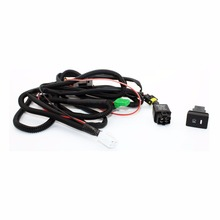 Set Wiring Harness Sockets Wire Switch for H11 Fog Light font b Lamp b font for