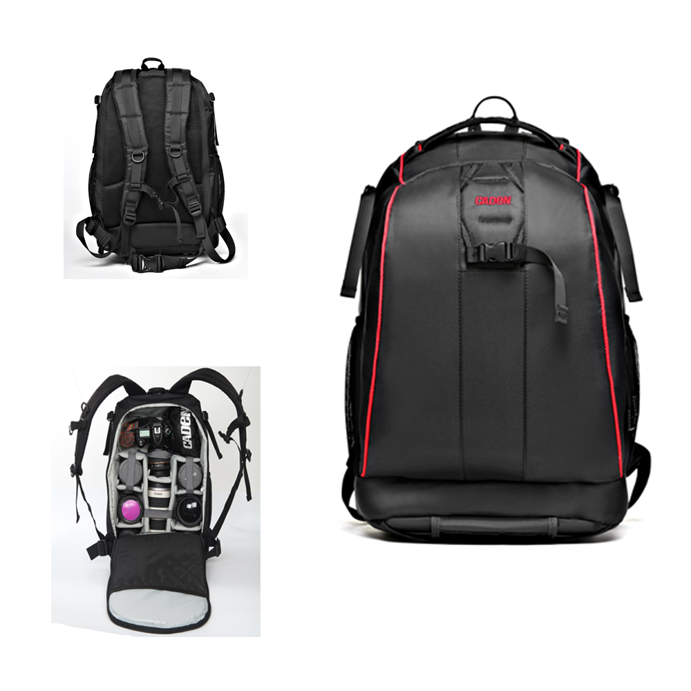 Waterproof Camera Backpack DSLR Camera Bag Soft Shoulders Bag Shockproof Photography Padded Video Bag For Nikon Canon Sony lowepro protactic 450 aw backpack rain professional slr for two cameras bag shoulder camera bag dslr 15 inch laptop