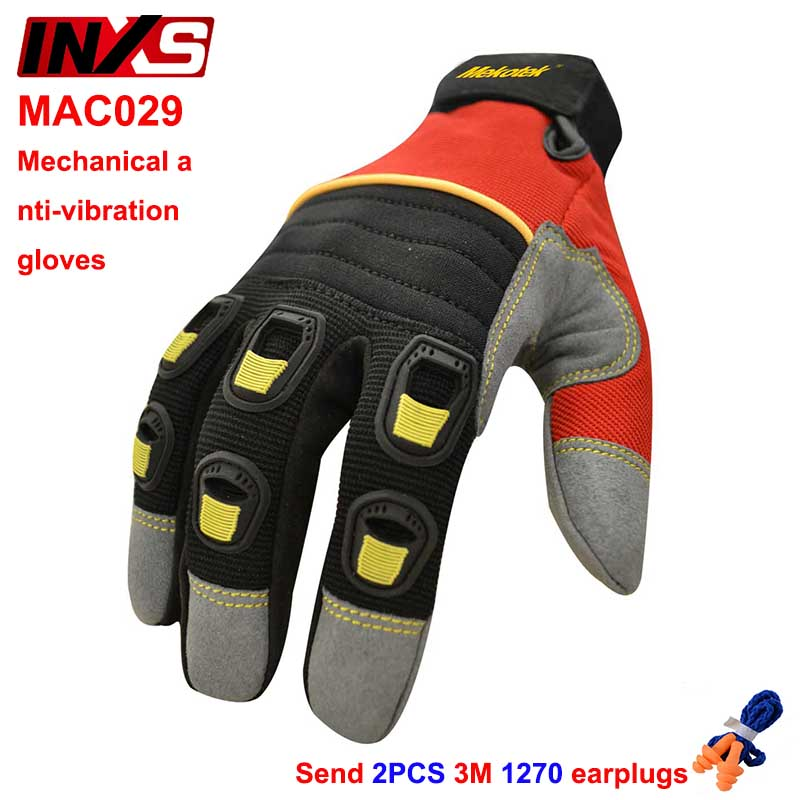 SAFETY-INXS MAC29 mechanic gloves metal processing Machining protection gloves Wearable Anti-vibration safety gloves oil free comfortable cheap nitrile gloves white nylon knitted hands protection gloves white mechanic construction industry
