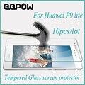 10 pcs para huawei p9 lite original 9 h vidro temperado película protetora de alta qualidade protetor de tela à prova de explosão-para p9 lite
