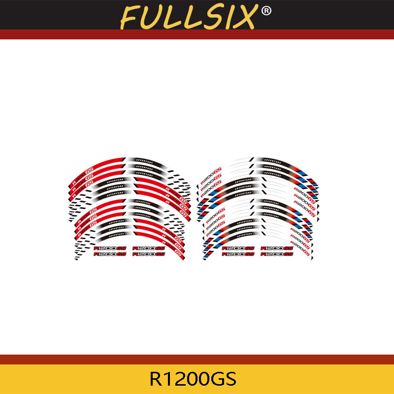 Motorcycle Wheel Decals Reflective Edge Outer Rim Stripes <font><b>Sticker</b></font> for <font><b>BMW</b></font> R1200GS R 1200GS R1200 <font><b>GS</b></font> R <font><b>1200</b></font> <font><b>GS</b></font> image