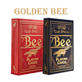 1deck High Quality Bee Golden Deck Bicycle Magic Props Magic Playing Cards Magia Poker Playing Card 83074