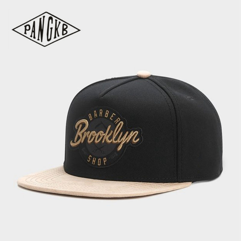 PANGKB Brand BROOKLYN CAP black adjustable hip hop snapback hat for men women adult headwear outdoor casual sun baseball cap(China)