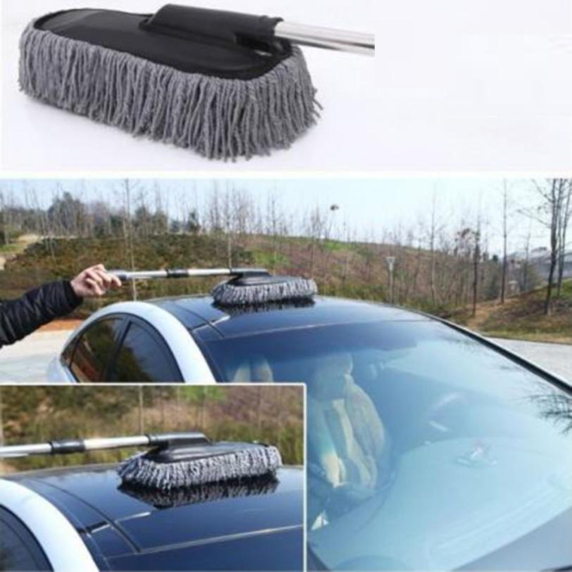 New Arrival Flat Car Cleaning Wash Brush Large Microfiber Telescoping Duster Dusting Tool Ap23 car-styling