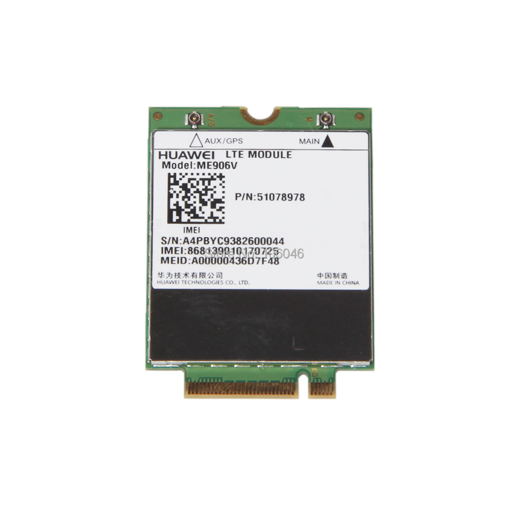 UNLOCKED HUAWEI ME906V 3G 4G 100Mbps Network LTE Module GPS+WCDMA NGFF modem 4g lte WWAN Card For Ultrabook Laptop Tablet dw5810e telit ln930 twh3n ngff m 2 4g lte dc hspa wwan wireless network card for venue 11 dell laptop