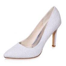 Weiß 3D glitter spitz pumpen partei schuhe nubukleder fühlen spezielle gelegenheit büro dame heels gummisohle schuhe