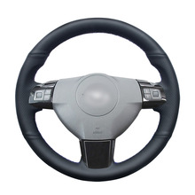 Hand stitched Black PU Artificial Leather Car Steering Wheel Cover for Opel Astra (H) 2004 2009 Zaflra (B) 2005 2014 Signum 2005