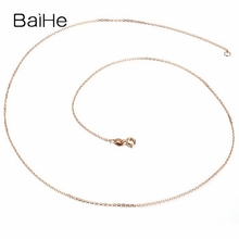 BAIHE Solid 18K Rose Gold Certified Cute/Romantic Wedding Party Fine Jewelry Necklaces недорого