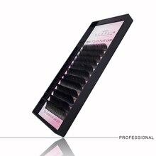 GLESUM  Ellipse Extension Lashes super soft 8-15 Mixed 12 Lines Matte Cashmere Flat Eyelash Extensions