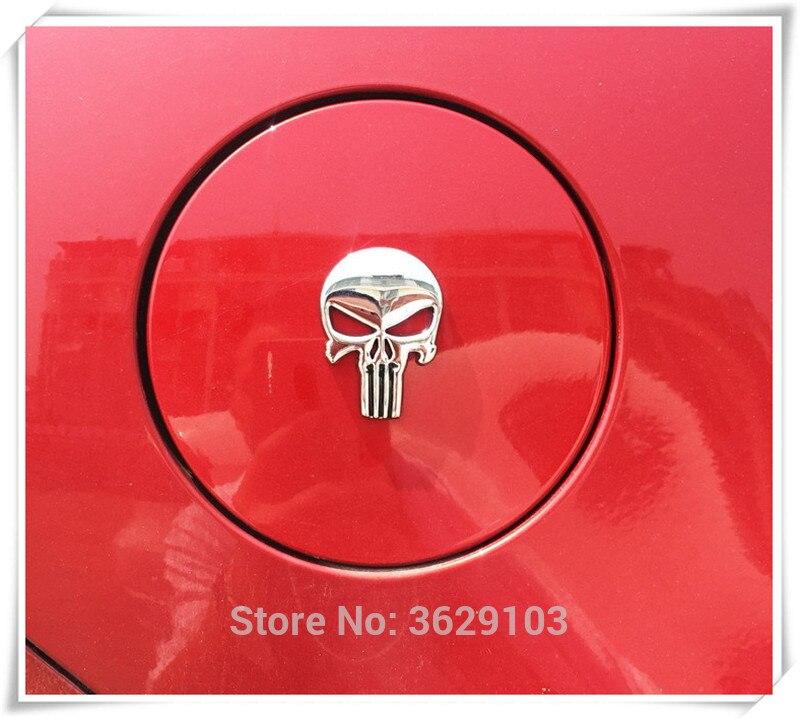 Стайлинга автомобилей 3D Металл Каратель череп эмблемы аксессуары для сиденья Леон ibiza altea Альгамбра