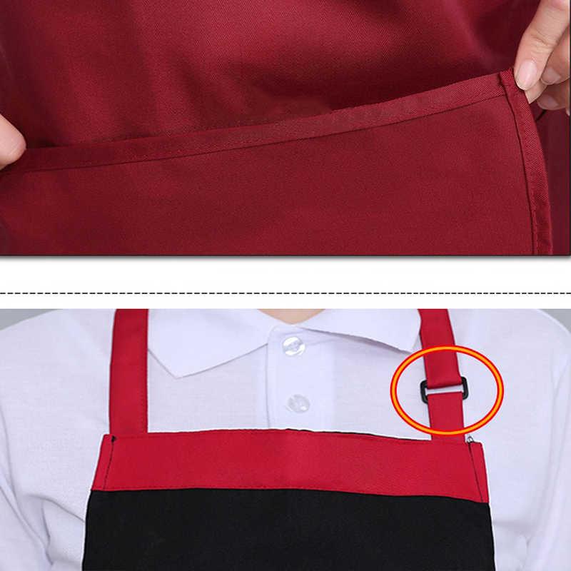 יוניסקס מסעדת מטבח סינר מתכוונן חצי גוף למבוגרים סינר פסים מלון שף מלצר קצר מטבח בישול סושי מנגל סינר