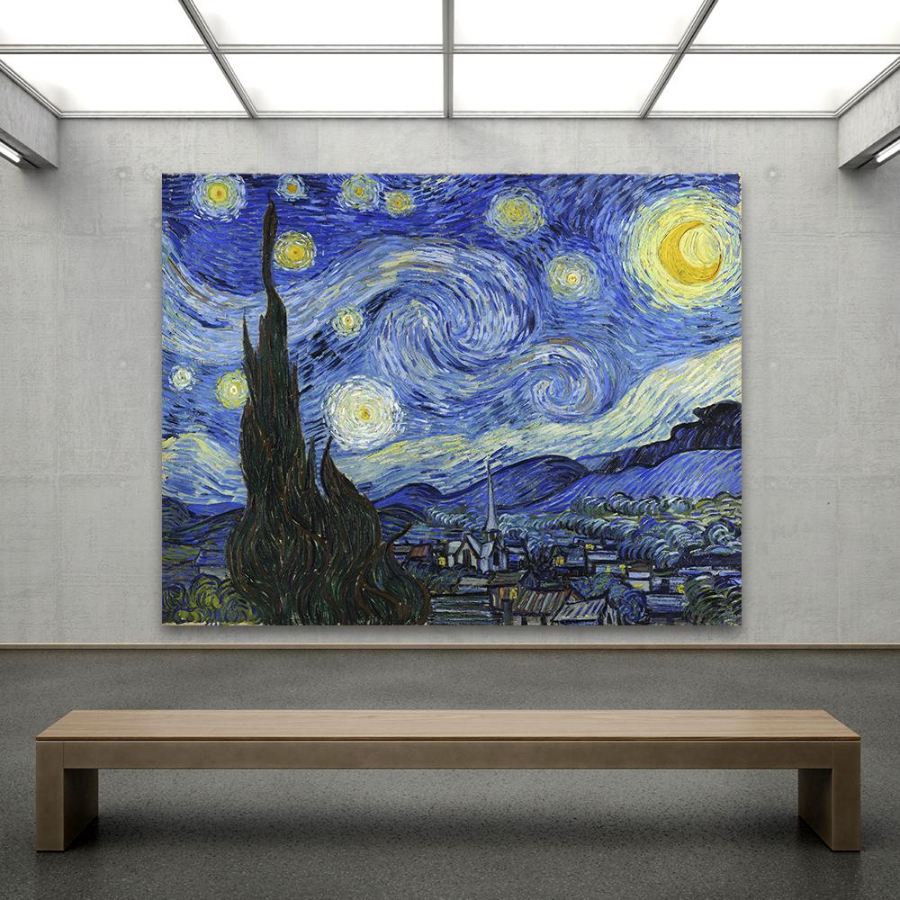 Qkart Impressionismo Van Gogh Noite Estrelada Motel Do Escritorio