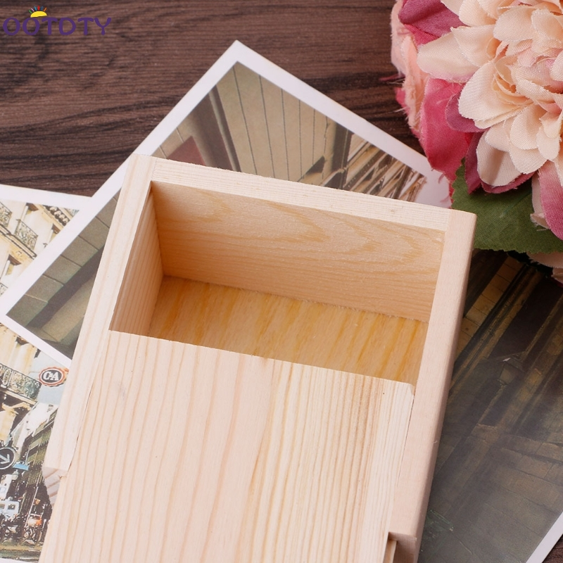 Handmade Jewelry Storage Box Wood Plain Candy Case Ring Organizer Crafts Case Nov