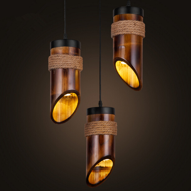American Country Vintage Restaurant Chandelier Chinese Style Antique Rope Bamboo Personality Corridor Chandelier Free Shipping new arrival modern chinese style bamboo wool lamps rustic bamboo pendant light 3015 free shipping