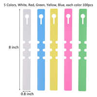500Pcs 8 Inch Wrap Around Plant Tags Bulk, Outdoor Waterproof Hanging Garden Labels - 20x2cm Pink Yellow White Blue Gr