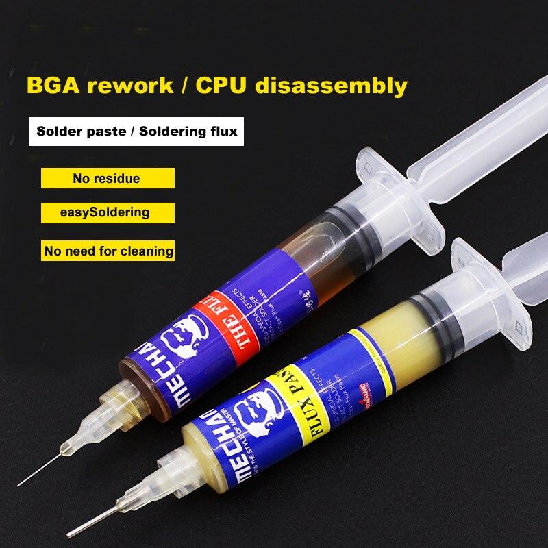 Wozniak Facile BGA De Réparation Mise À L'échelle de poudre Pin type 10cc Pâte flux pour iphone CPU Puce démontage Propre téléphone Mobile de soudage huile