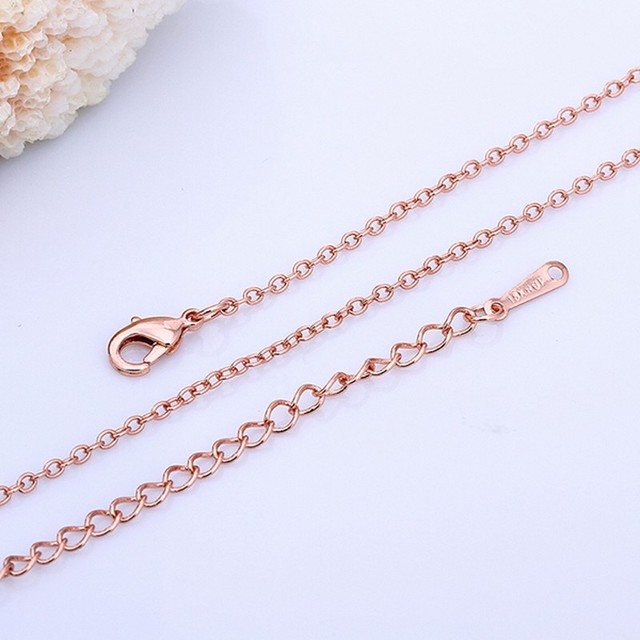 fbd3ed81582 free shipping,wholesale 50pcs/lot rose gold color 1.5mm rolo CHAIN Necklace  18inch, fashion women chain necklace JEWELRY