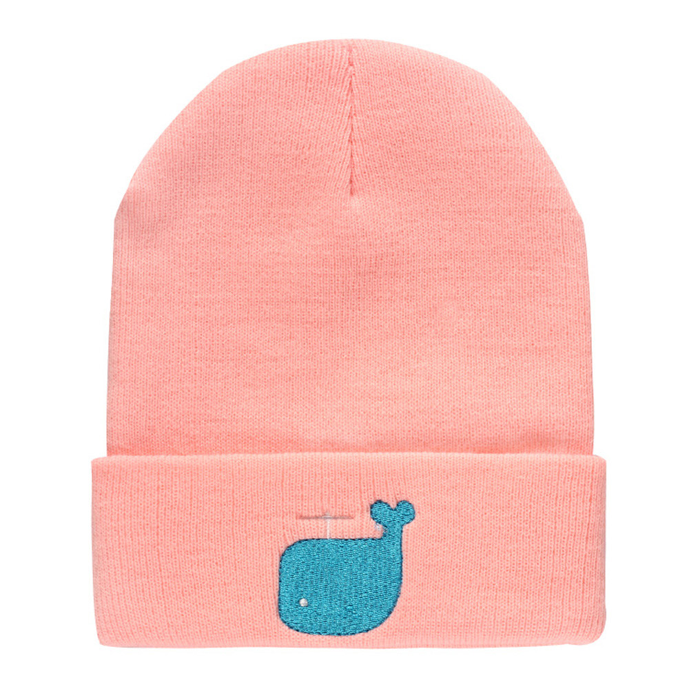 Whale embroidery printing Unisex Cap Knitting Hats Snow Caps Casual Cap Crochet Beanies Caps Warm Hat winter women