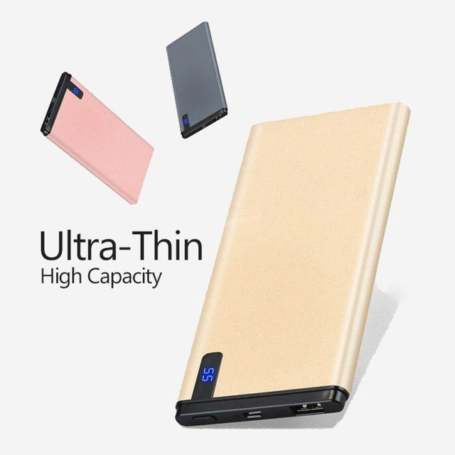 Slim 30000mAh Power Bank Portable Ultra-thin Polymer Powerbank battery poverbank 30000mah With LED Light for Mobile Phone usb battery bank charger