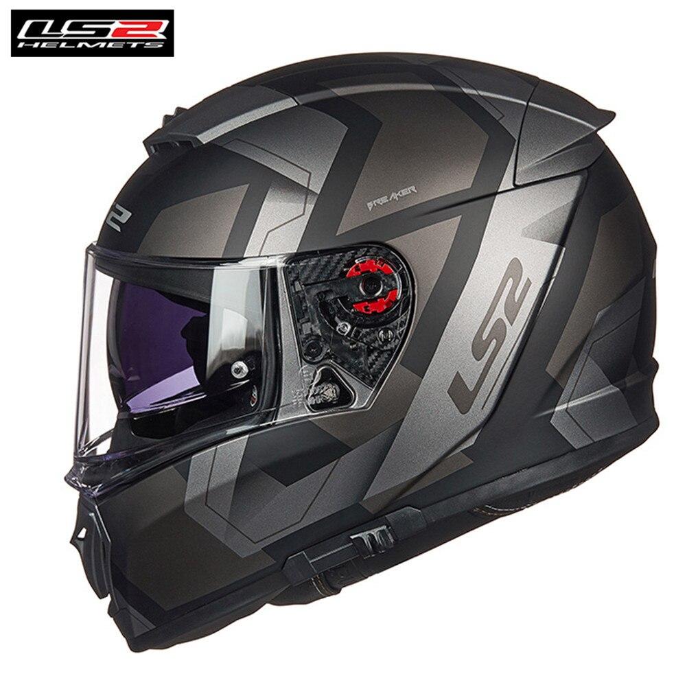* Free PINLOCK * LS2 FF390 disjoncteur BAZ Casque de Moto intégral hommes course Casque Moto Capacetes de Motociclista barre de moteur