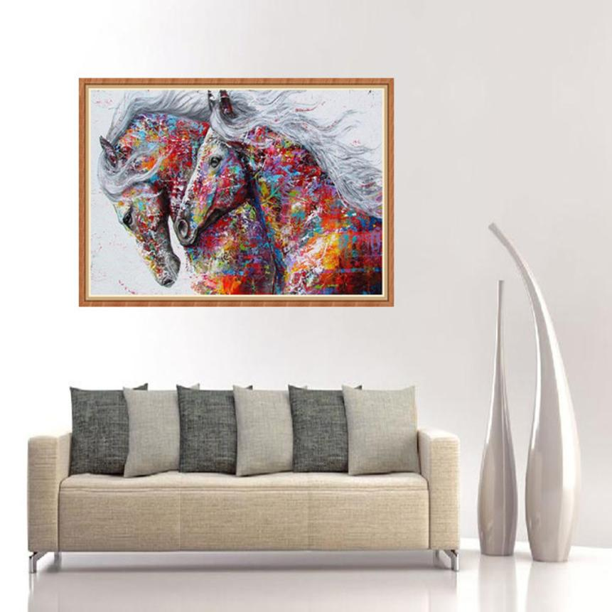 30x40 5D DIY Diamond Painting Cross Stitch Craft Home Decor Art Embroidery Painting Animal Horse 2O0525