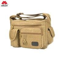 Vbiger New Arrival Men S Canvas Messenger Bag Casual Shoulder Bag Retro Cross Body Bag For