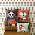 Ferm vivendo de veludo decorativo travesseiro almofada raposa almofadas decorativas, almofadas de sofá almofadas, almofadas para sofás vintage, quadrado travesseiro