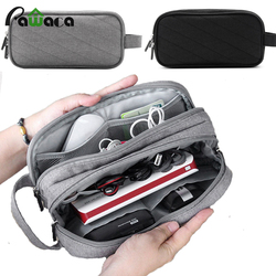 Multi-functional business Travel USB Cable bag Organizer Electronics storage bag Case Digital Gadget oxford zipper package bag