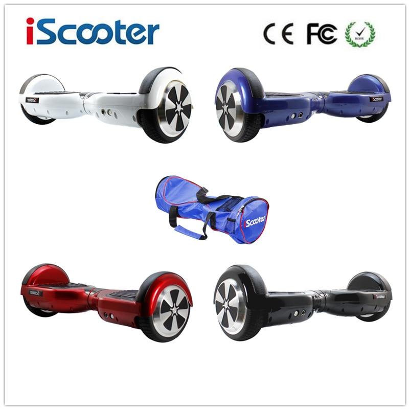 Iscooter 6.5 дюйма разумный баланс Электрический скутер UL2272 Ховерборда 2 колеса скейтборд selfbalance скейтборд Популярные Hover доска