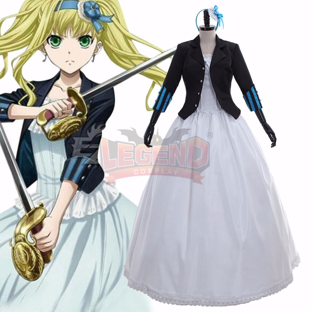Black Bulter Book of the Atlantic Elizabeth Ethel Cordelia Midford dress Cosplay Costume Outfit Custom Made