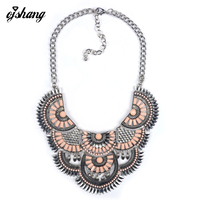 Hot Sale New Fashion Necklace Pendant Women 2016 ZA High Quality Crystal Collier Femme Bib Statement