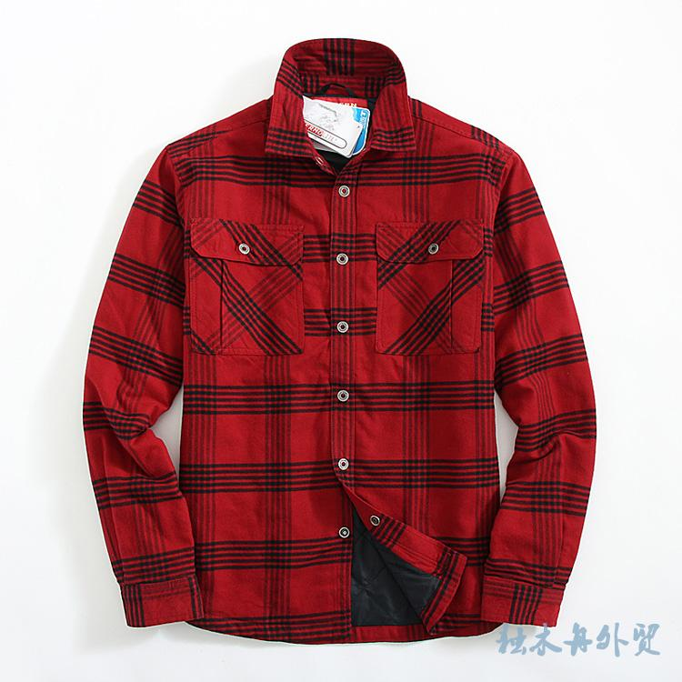 2019 Winter Shirts Men Flannel Plaid Shirt Cotton-padded Thermal Check Shirt Mens Winter Shirt Camisa Cuadros USA Size M-2XL bracelet