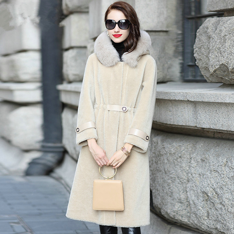 Col D'hiver Renard Apricot Mujer Laine Vestes Femme Femmes Abrigo De Vintage Réel Veste Light Mouton Coréenne Manteau My1934 Fourrure 0xwUtqYt