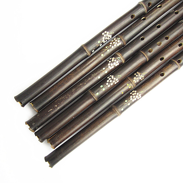 Bamboo Flute Vertical Wind musical Instruments 6/8 Hole for Beginners Traditional Purple Bamboo G/F Key
