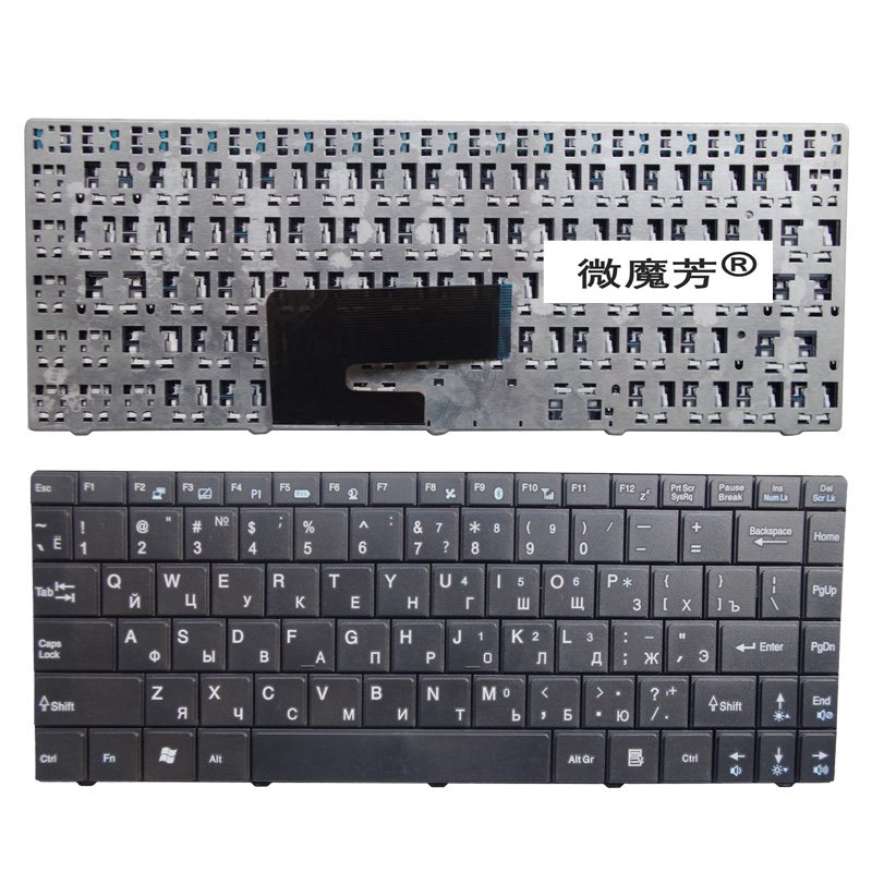 RU For <font><b>MSI</b></font> CR420 CR400 X350 EX465 CX420 CR420 X370 CR460 CX420 CX460 <font><b>CX480</b></font> CR430 X420 N4205 FX400 Keyboard Russian New Black image