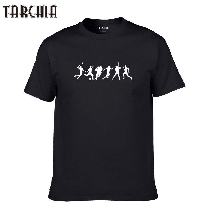 TARCHIA 2019 new summer brand ball brand t-shirt cotton tops tees men short sleeve boy casual homme tshirt t plus fashion