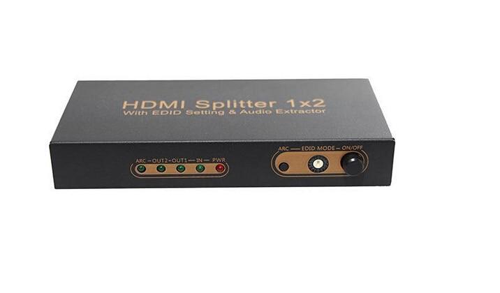 1x2 HDMI 2 Port HDMI Splitter Avec EDID Réglage ARC Audio Extractor Appuie MHL/HDMI 1.4/ 3D/1080 p/Full HD 1080 p SP07M1