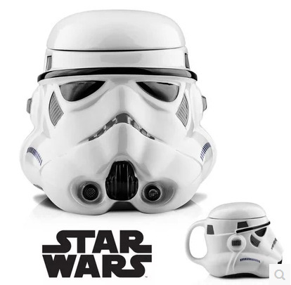 FreeShipping! Star Wars 3D Mug Creative Coffee Cup Darth Vader Stormtrooper White Black Knight Mugs Christmas New Year Best Gift