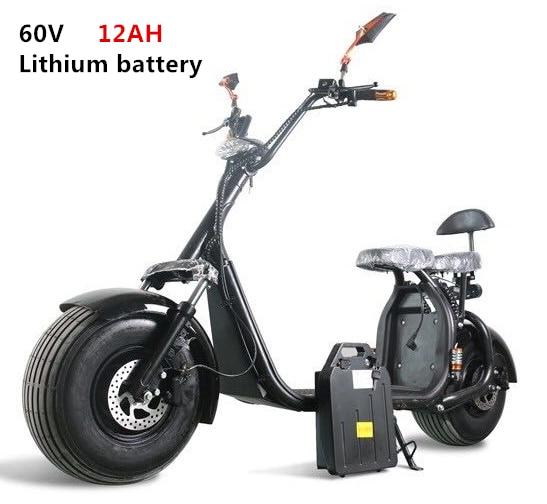 Deux places avec APP hors route gros pneu moto deux roues 18*9.5 pouces ville Hoverboard Harley Scooter électrique
