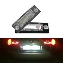 2 шт. 18SMD светодио дный сзади номерной знак свет лампы для VW Jetta Touran/Passat B6 5D для Skoda Superb 1 3U B5 автомобиль-Стайлинг